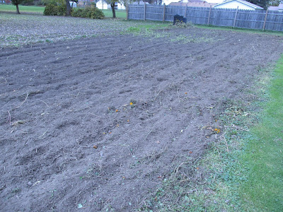 Freshly tilled garden-Vickie's Kitchen and Garden