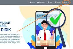 Cara Verval Ponsel Siswa dan Guru di Laman VervalPonsel