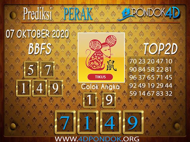 Prediksi Togel PERAK PONDOK4D 07 OKTOBER 2020