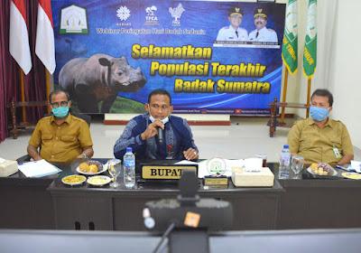 Bupati Aceh Timur Isi Materi Peringatan Hari Badak Sumatera Sedunia