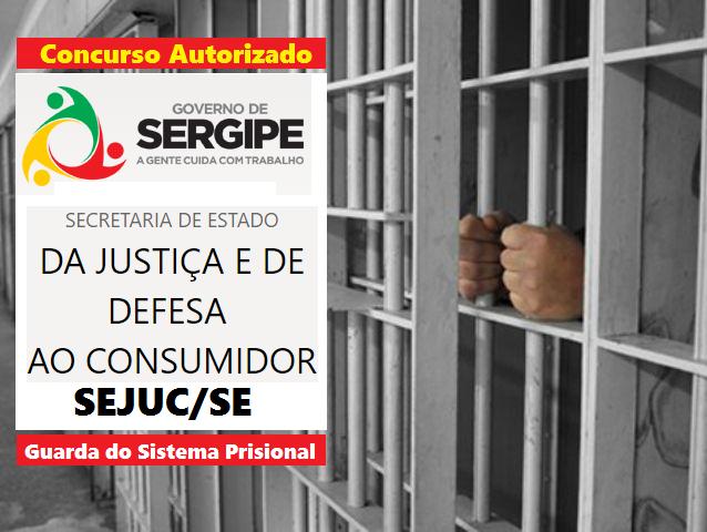 Governo de SE, autoriza abertura de concurso Sejuc para guarda Prisional