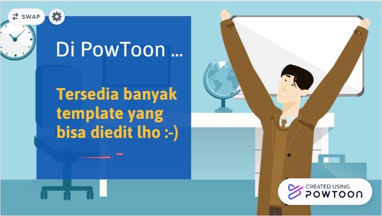 Template video Pembelajaran di PowToon