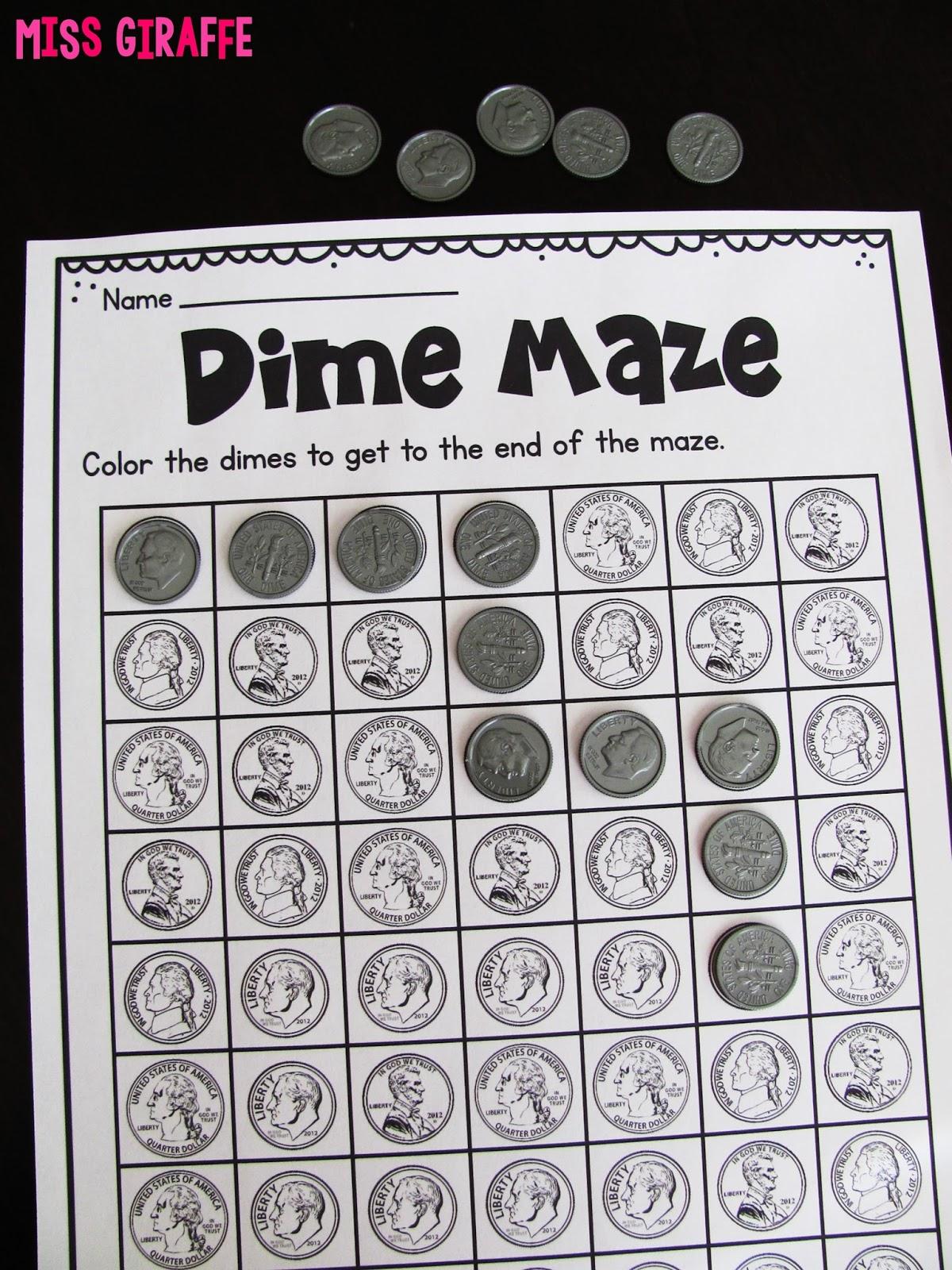 Miss Giraffe's Class: Teaching Money [ 1600 x 1200 Pixel ]