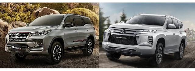 harga-new-pajero-sport-dan-toyota-new-fortuner-2021