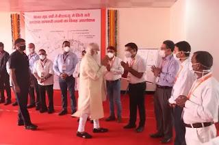 पीएम मोदी ने जनपद वाराणसी में BHU की MCH विंग में कोरोना की सम्भावित तीसरी लहर से बचाव के लिए चल रही तैयारियों का निरीक्षण किया