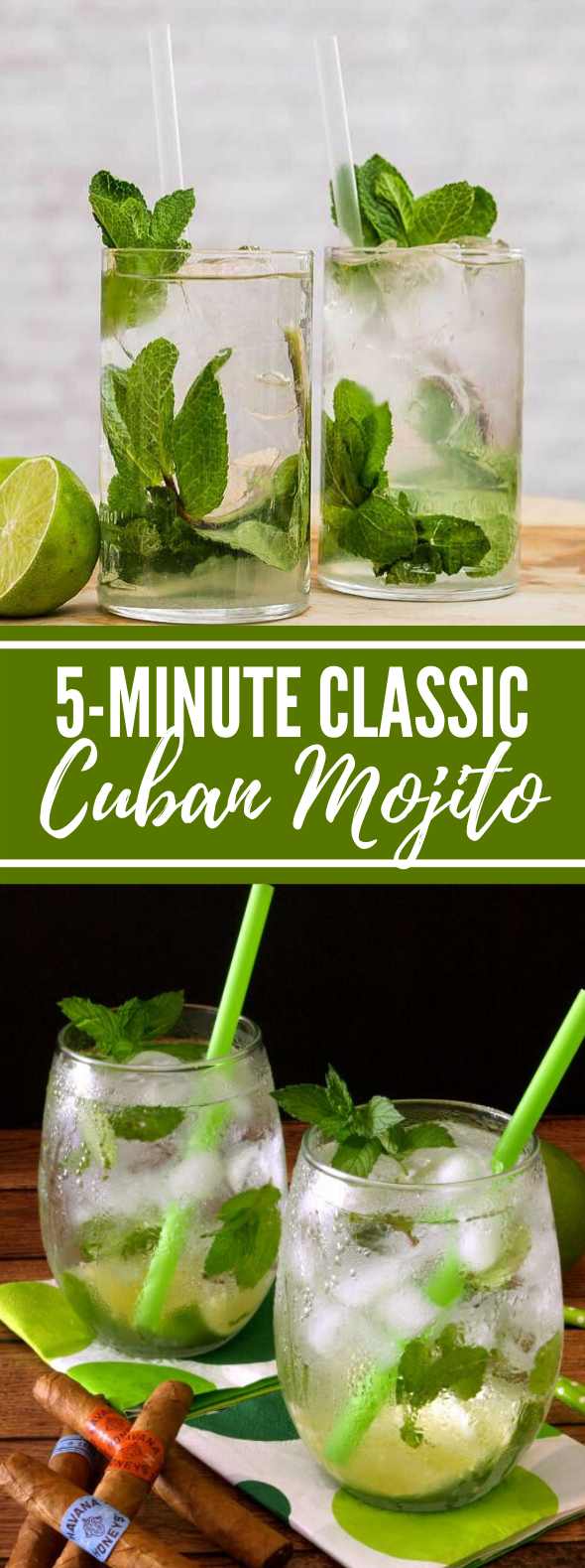 5-MINUTE CLASSIC CUBAN MOJITOS #drinks #cocktails