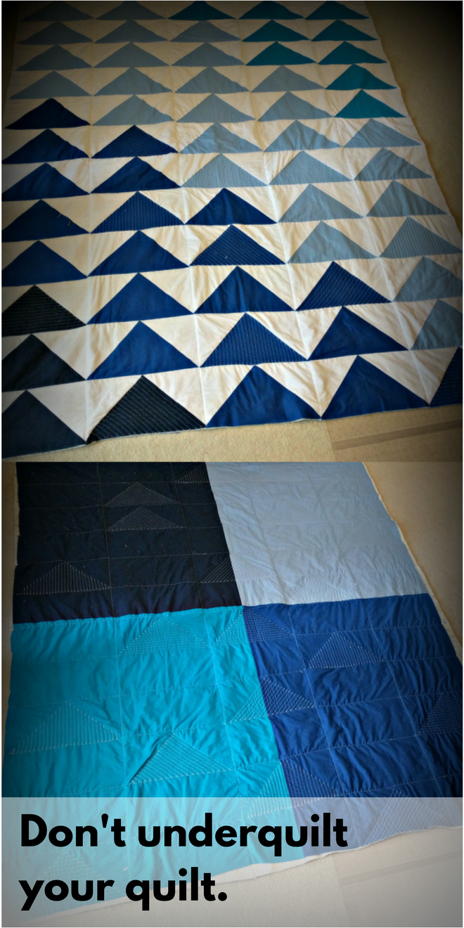 Don't underquilt your quilt is one of many solid quilting tips for beginners.