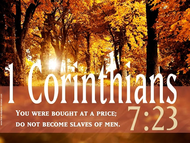 Inspirational Bible Verse Wallpaper Corinthians 7 23