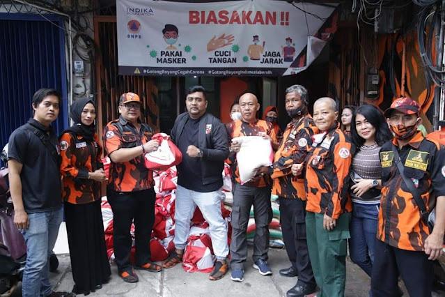 Pemuda Pancasila Bagikan 2.856 Paket Sembako Presiden Untuk Masyarakat Terdampak Covid-19