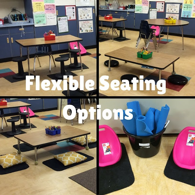 Modular Classroom Yoga ~ Flexible seating in the primary classroom part our
