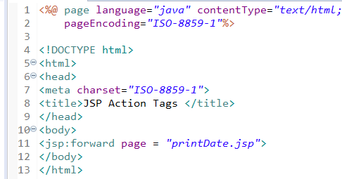 jsp action tags