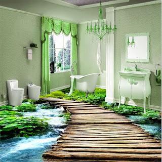 lantai kamar mandi dengan gambar nyata