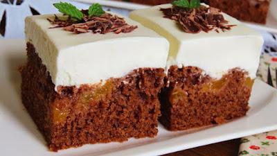 Čokoladni kolač s mileramom / Creamy Chocolate Cake