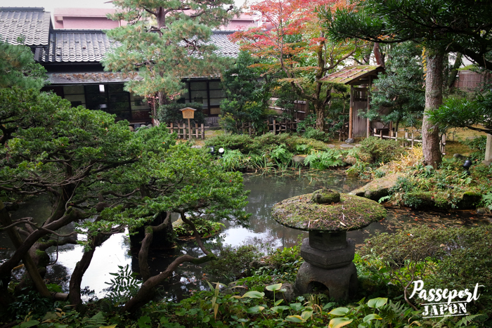 L'étang du jardin Gyokusen-en, Kanazawa