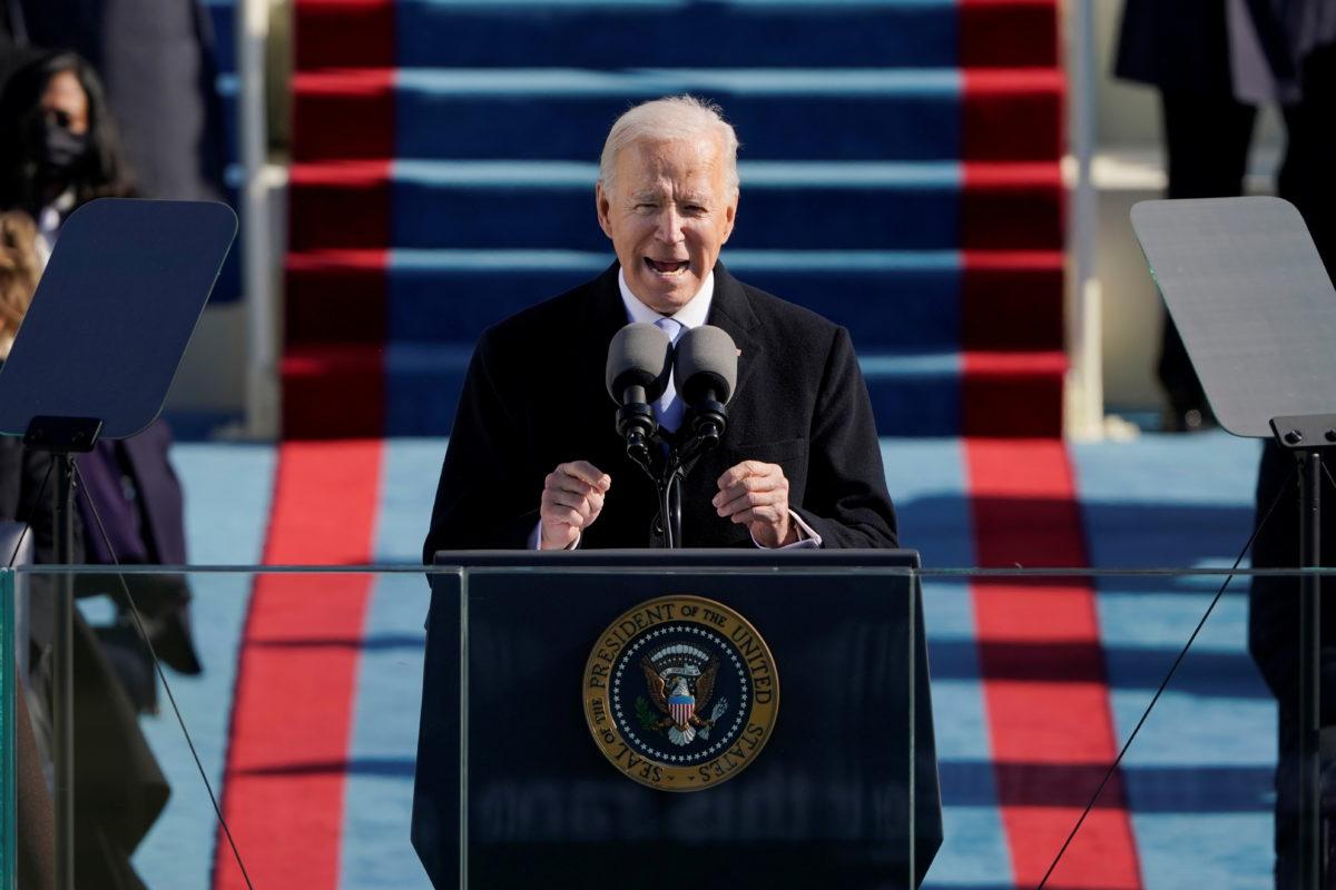 Foto de Biden en primer discurso como Presidente