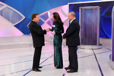 Silvio Santos recebe Ricardo e Chris Flores - Crédito da foto: Lourival Ribeiro/SBT