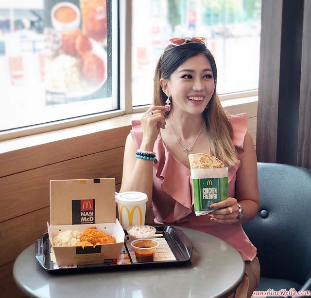 McDonald's, McDonald's Ramadan Menu, Nasi McD, Chicken Foldover, Ayam Goreng McD, D24 Durian McFlurry, Banana Pie, Sarsaparilla Cones, McCafe, Ice Blended Ribena, McDonald's Malaysia, Ramadan Menu, Ramadan 2019, Food