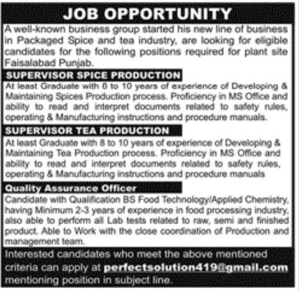 Perfect Solution Faisalabad Jobs