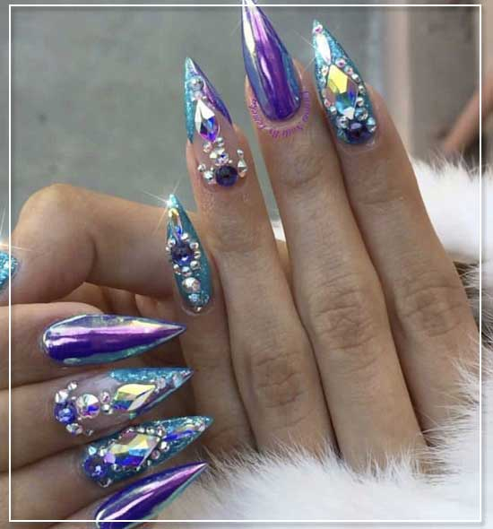 Glitz and Glam Nail Art Design