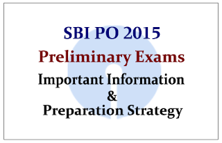 Preparation Strategy for SBI PO Preliminary Exam 2015