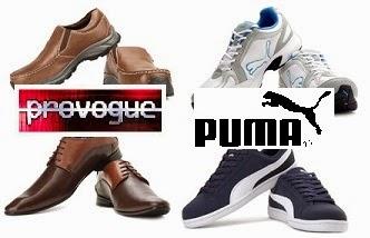 Flat 50% Off on PUMA & PROVOGUE Men's Footwear@ Flipkart