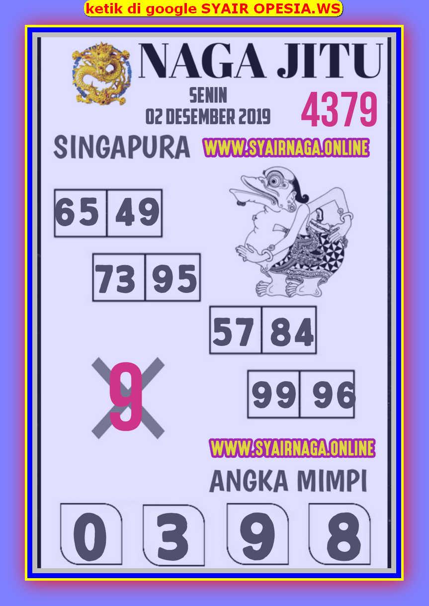 Kode syair Singapore Senin 2 Desember 2019 85