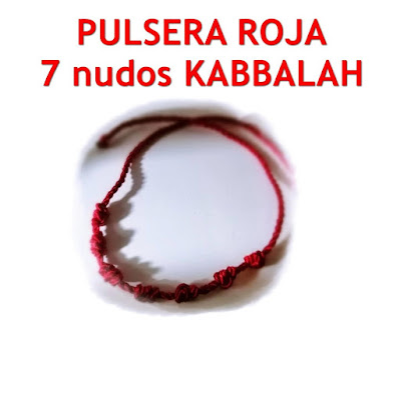 Pulsera roja Kabbalah 7 nudos