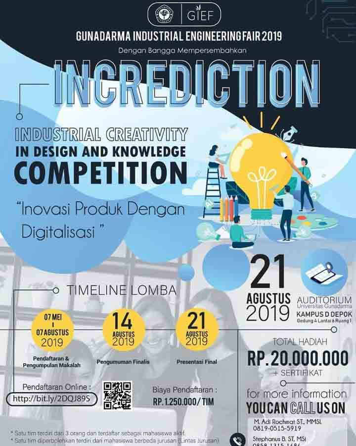 Lomba Desain Kreativitas INCREDICTION 2019 Mahasiswa