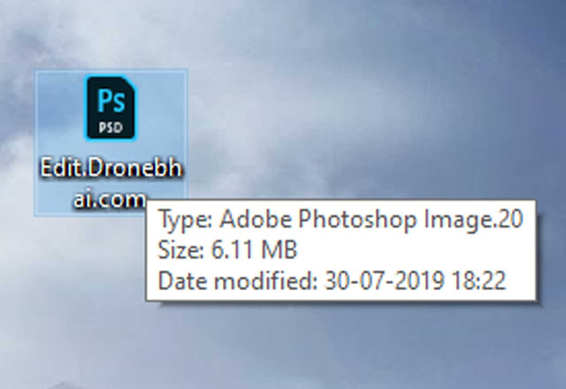 Dot PSD file in photoshop