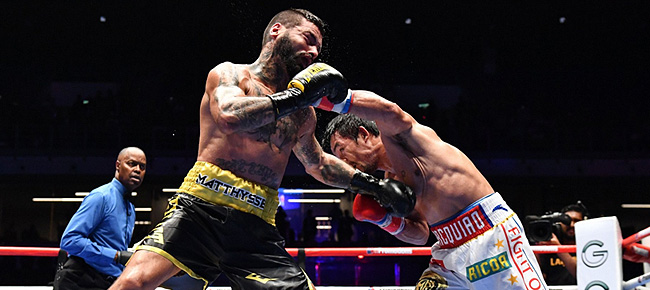Manny Pacquiao Destroys Lucas Matthysse via 7th-round TKO (REPLAY VIDEO)