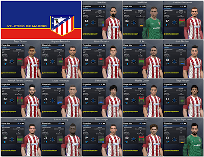 PES 2017 Atletico Madrid Facepack 1.0 by Tran Ngoc