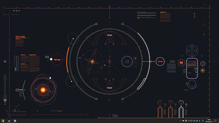 Cyber HUD Wallpaper Engine