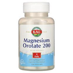 KAL, оротат магния 200, 200 мг, 120 вегетарианских капсул