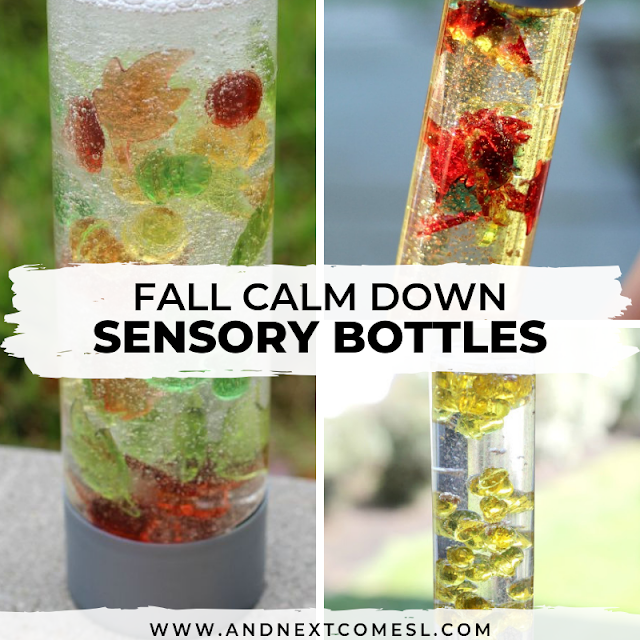Fall calm down sensory bottles