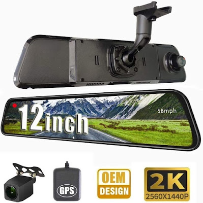 NikoMaku 2K Mirror Dash Cam