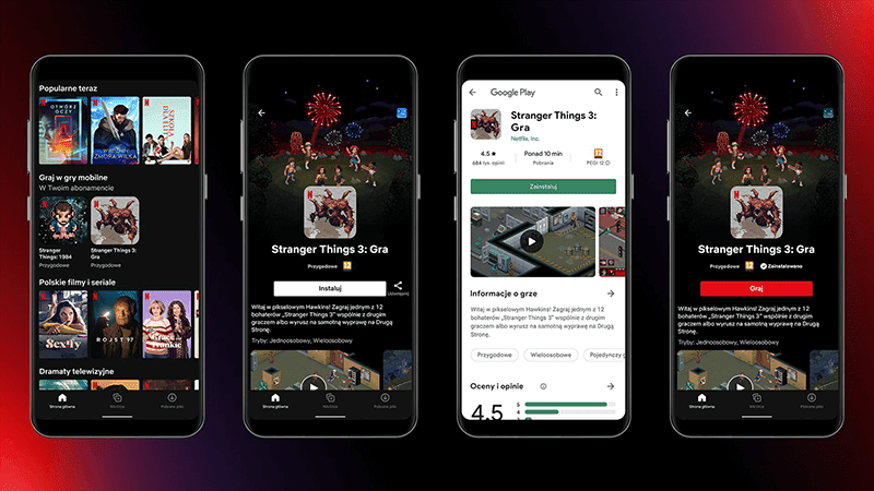 Netflix testing Mobile Gaming on Android in Poland with 2 Stranger Things games!