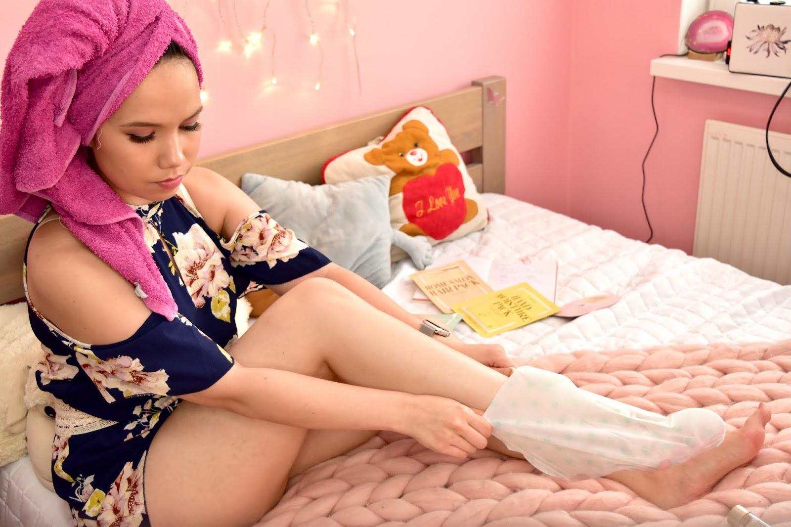 Kocostar foot moisture pack aplikácia