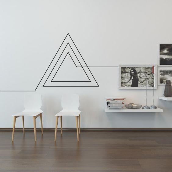 decoração de ambientes tape art