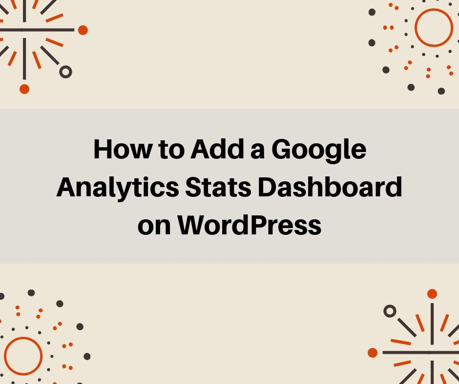 add google analytics stats dashboard
