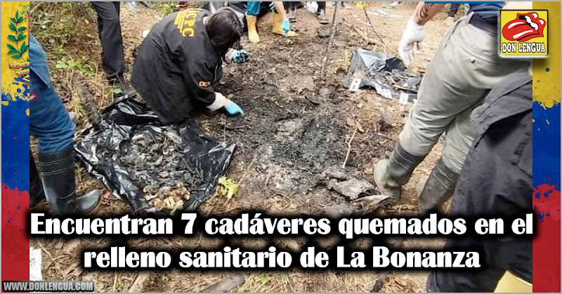 Encuentran 7 cadáveres quemados en el relleno sanitario de La Bonanza