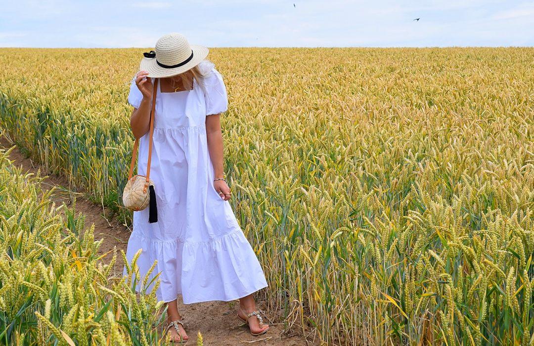 Sommerkleid-Weiß-kurze-Ärmel