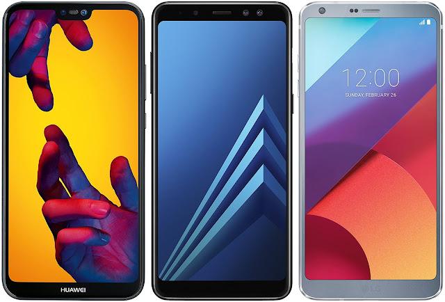 Huawei P20 Lite vs Samsung Galaxy A8 (2018) vs LG G6