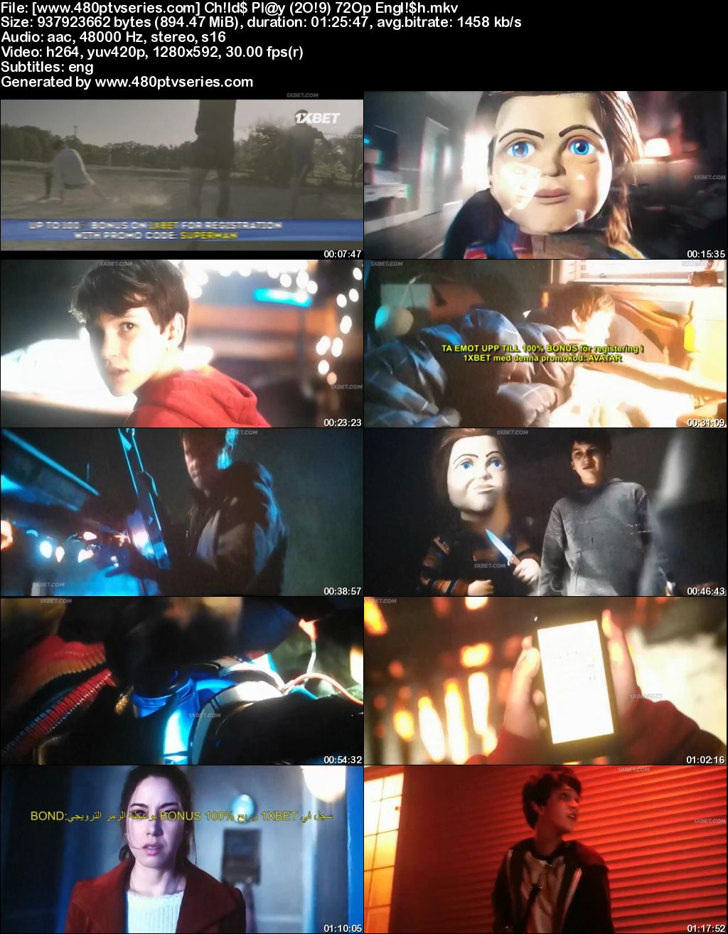 Watch Online Free Child's Play (2019) Full English Movie Download 480p 720p HDCAM
