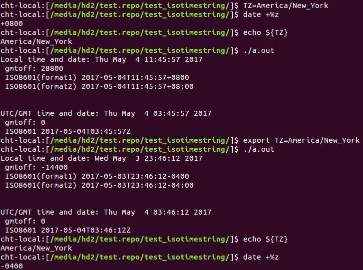 改變Ubuntu時區以及實作ISO8601標準時間格式