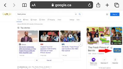 Google Easter Egg The fresh Prince of Bel-Air