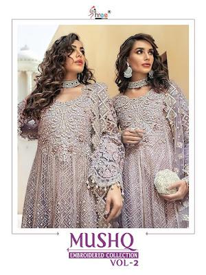 Shree Fab Mushq vol 2 Net work pakistani Suits wholesaler