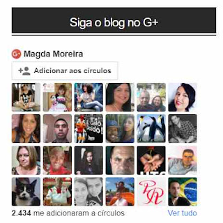 Gadget do G+ no blog