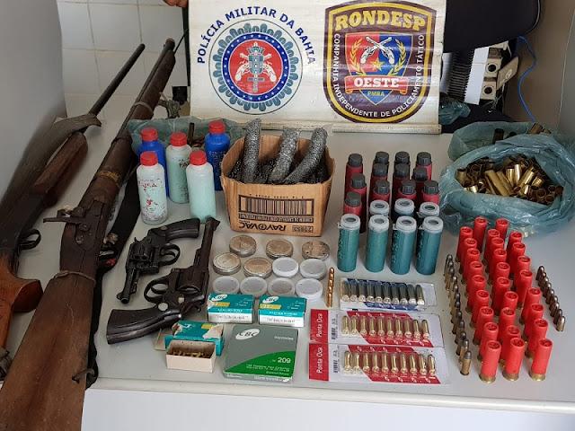 Rondesp/Oeste apreende armas de fogo na zona rural de Baianópolis