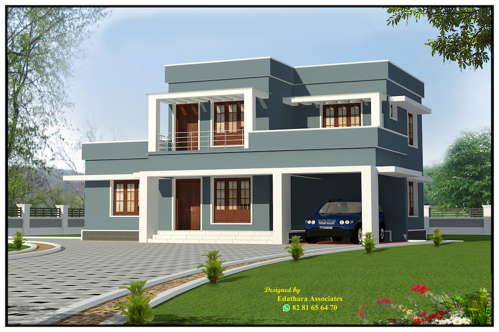 2000 Sq Ft Modern Double Floor Kerala Home
