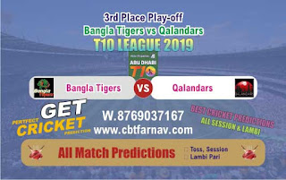 T10 League 2019 QAL vs BAT 3rd Place Play-off Match Prediction Today Reports